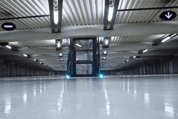 High traffic concrete floor