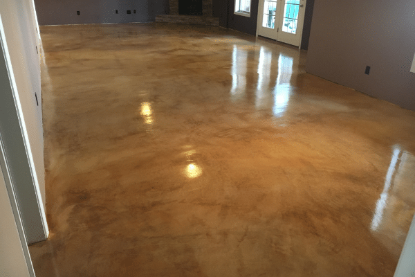 Fix Scratches on Stained Concrete Floors